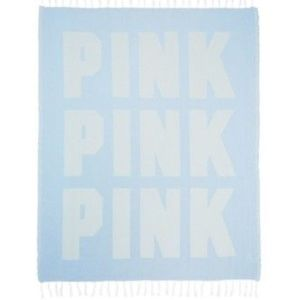 NWT Victoria's Secret Pink blue beach blanket